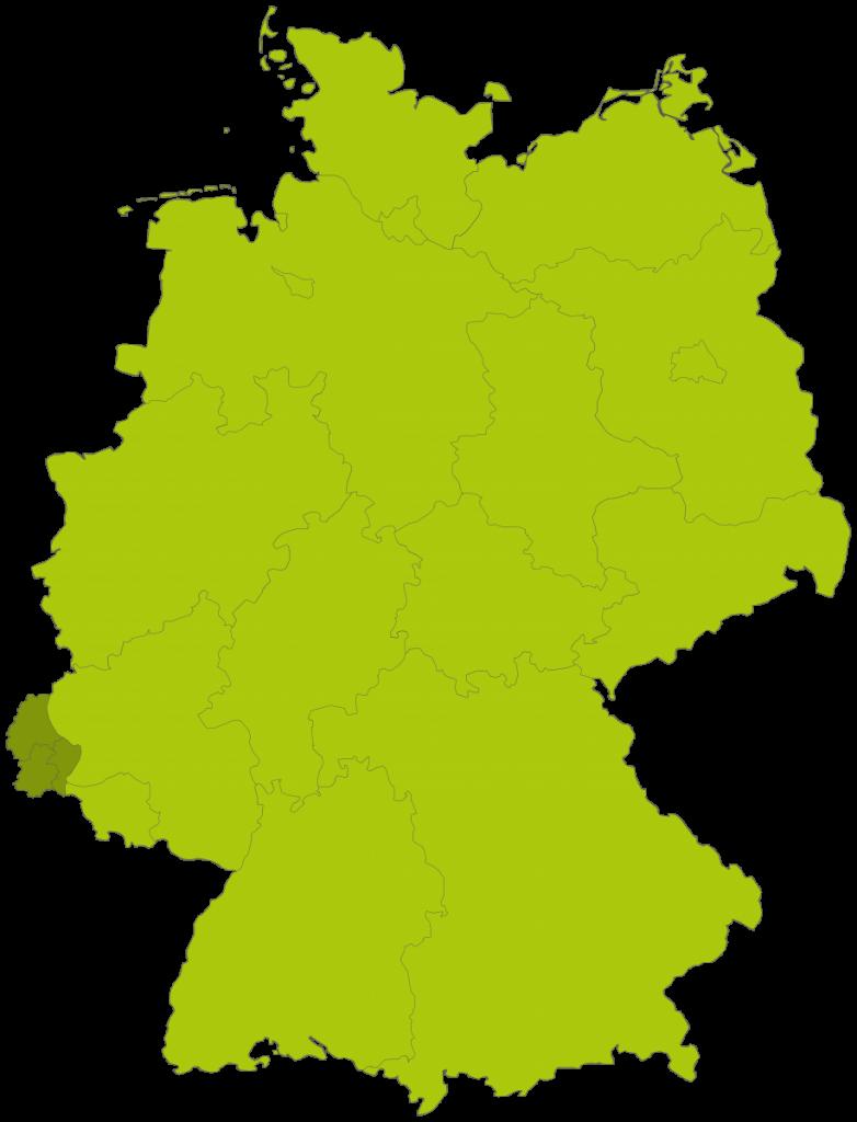 Deutschland Landkarte inklusive Luxemburg