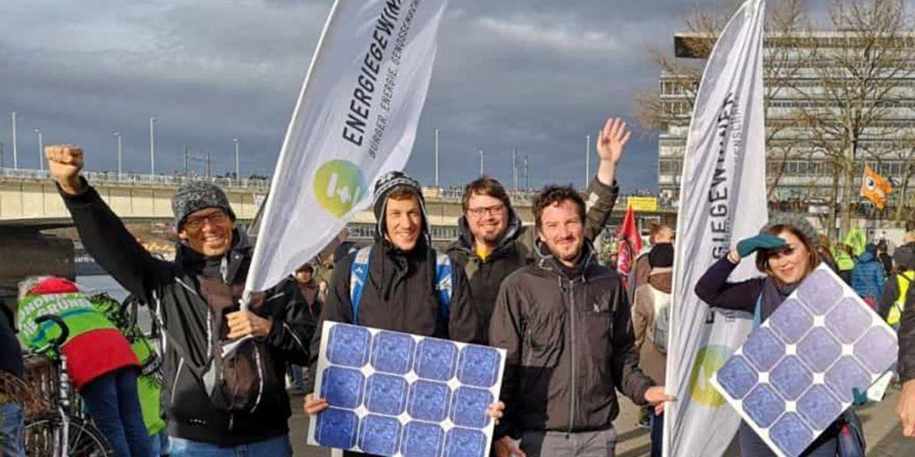 Energiegewinner-Team bei der Anti Kohle Demonstration in Köln und Berlin